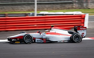 Stoffel Vandoorne - Vandoorne racing at the Silverstone round of the 2014 GP2 Series