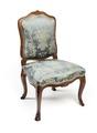 Stol, del av möbeluppsats, 1700-tal - Hallwylska museet - 109815.tif