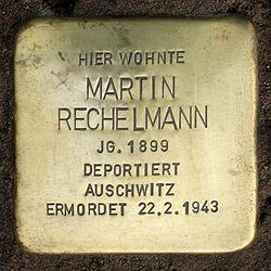 Photo of Martin Rechelmann brass plaque