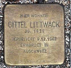 Photo of Gittel Littwack brass plaque