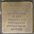 Stolperstein Frieda Baum, Düsseldorf, Immermannstraße 66 (heute Konrad-Adenauer-Platz 1).jpg