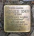 Stolperstein Goßlerstr 21 (Fried) Margarete Scheff.jpg