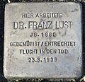 Stolperstein Karlsruhe Franz Lust.jpg
