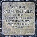 Stolperstein Schleswiger Ufer 5 (Hansa) Samuel Kreitstein.jpg