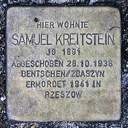 Photo of Samuel Kreitstein brass plaque