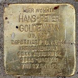 Photo of Hans-Peter Goldemann brass plaque