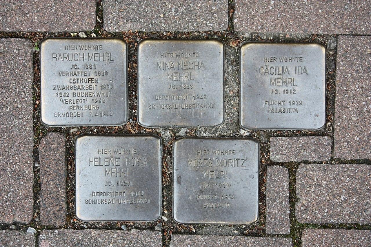 Stolpersteine Bürstadt Mainstraße 22
