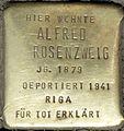 Stolpersteine Köln, Alfred Rosenzweig (Aachener Straße 28).jpg