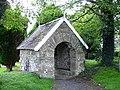 Stone lychgate, St Cadfan's church, Llangadfan - geograph.org.uk - 509556.jpg