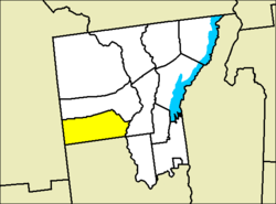 Location of Stony Creek in Warren County