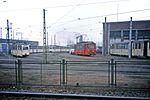 Straßenbahn Betriebshof.Rostock Tram Depot DDR, Jan 1990 - Flickr - sludgegulper.jpg