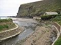 Stream flowing into Crackington Haven - geograph.org.uk - 1559309.jpg