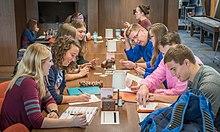 University of Mary students dining at the Lumen Vitae University Center