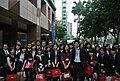 Students of Chung Hua University at Capital Financial Building 20130418.jpg