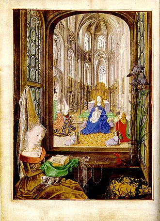 Affective piety - Hours of Mary of Burgundy, Flanders, ca. 1477 (Vienna, Austrian National Library, cod. 1857, f. 14v)