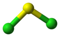 Ball-and-stick model of sulfur dichloride