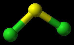 Sulfur dichloride - Image: Sulfur dichloride 3D balls