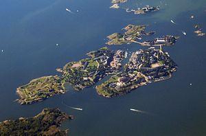 Suomenlinna - An aerial view of Suomenlinna.