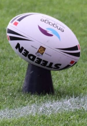 Tee - A rugby league ball on a kicking tee
