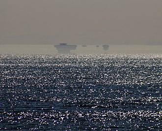 Atmospheric duct - Fata Morgana of Farallon Islands with clearly seen duct