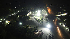 Surallah, South Cotabato - Aerial view of Surallah Municipal Hall at night.
