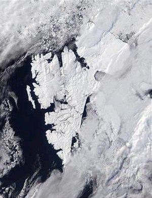 Geography of Svalbard - MODIS satellite photo of Svalbard, courtesy NASA