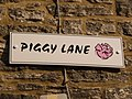 Swanage, Piggy Lane sign - geograph.org.uk - 1718463.jpg