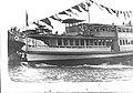 Sydney ferry LADY CARRINGTON being launch at the yard of Morrison & Sinclair, Balmain 1907.jpg