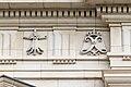 Symboles ornant la frise du premier étage, palais du parlement de Bretagne, Rennes, France.jpg