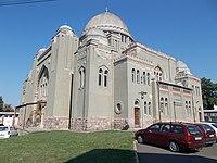 Synagogue. Listed ID -1799. (SW). - Vármegye Rd., Gyöngyös.JPG