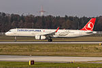 TC-JTA - The new Turkish Airlines Airbus A321-231(WL) (delivered 28th Sep. 2015) coming in from Istanbul (IST) @ Frankfurt (FRA).jpg