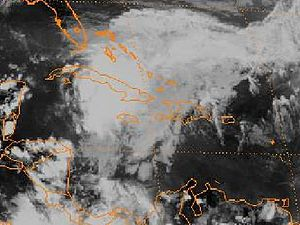 1990 Atlantic hurricane season - Image: TD 1 25 may 1990 2101Z
