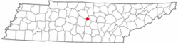 Location of Auburntown, Tennessee