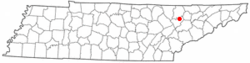 Location of Norris, Tennessee