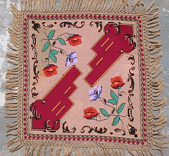 Tablecloth - Traditional Romanian tablecloth made in Maramureş