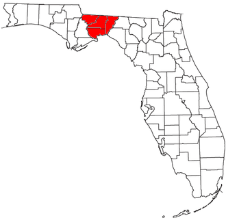Tallahassee metropolitan area - Location of the Tallahassee Metropolitan Statistical Area in Florida