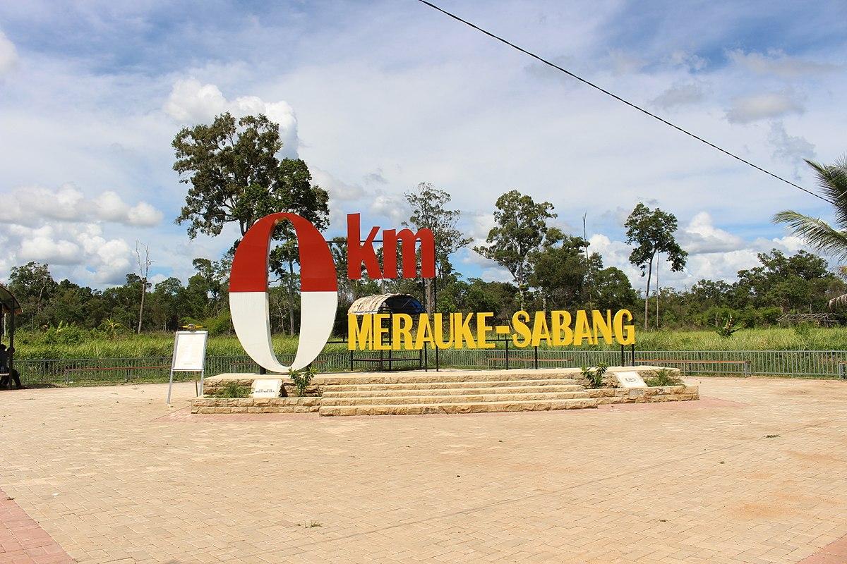 Destinasi wisata di Merauke - Tugu 0 km