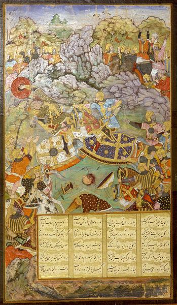 File:Tambal attacking his cousin Babur-large.jpg