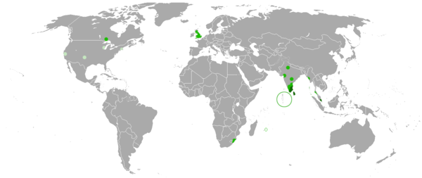 Tamil language wikiwand distribution of tamil speakers around the world gumiabroncs Images