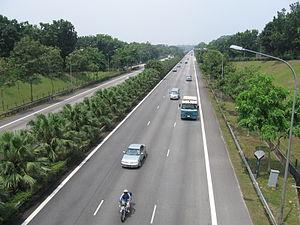 Tampines Expressway - Tampines Expressway from Jalan Kayu Flyover.