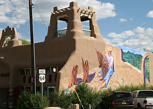 Taos Downtown Historic District - Mural near the Taos Plaza