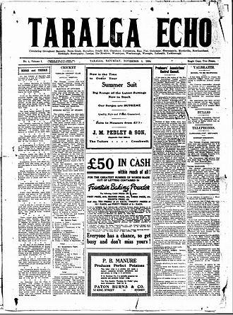 Taralga Echo - Taralga Echo 1 November 1924