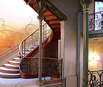 1894 in architecture - Hôtel Tassel, pioneering Art Nouveau