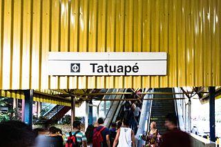 Tatuapé (São Paulo Metro) metro station in Sao Paulo, Brazil