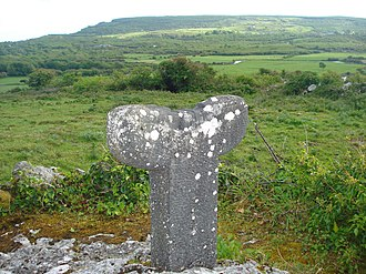 County Clare - The Tau Cross at Roughan Hill near Corofin, County Clare, Ireland