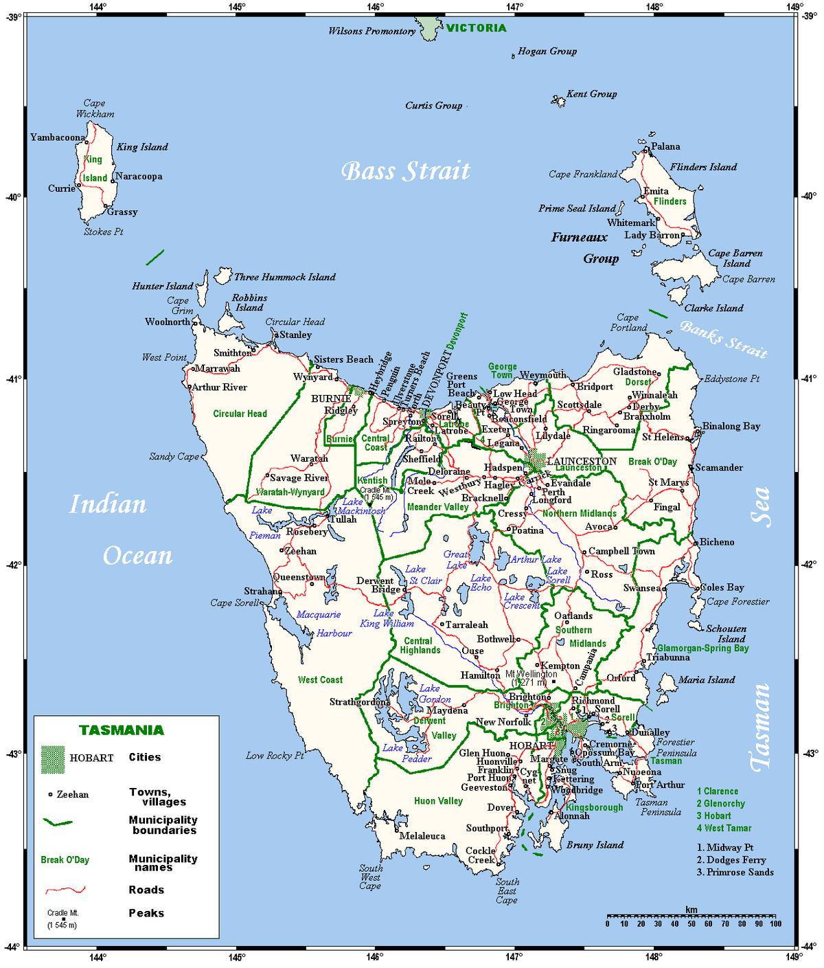Île de Tasmanie — Wikipédia