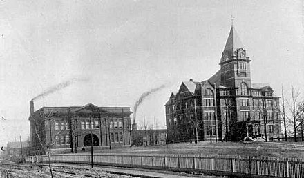 An early picture of Georgia Tech Tech Tower and Shop 1899.jpg