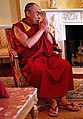 Tenzin Gyatso, the 14th Dalai Lama of Tibet at the Whitehouse on 23 May 2001 (cropped).jpg