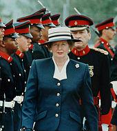 fotografia de um Thatcher de 64 anos