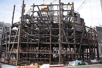 English: View of The Bow construction site, Ap...